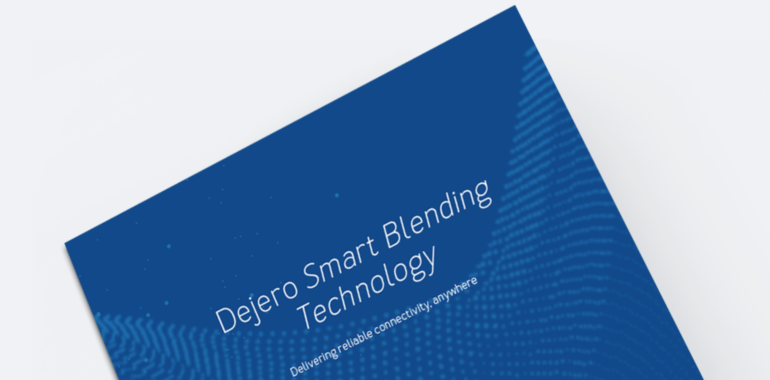 "Cover of ""Dejero Smart Blending Technology"" paper, which helps achieve technical differentiation by relating features of Dejero's solution to real-world technical challenges"